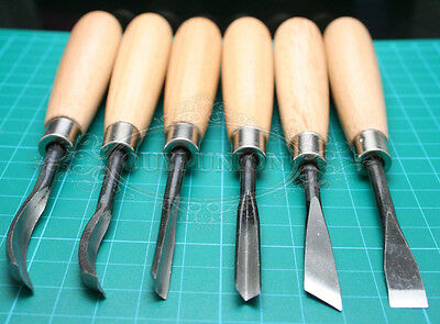 6PCS Set DIY Tool Wood Carving Chisels Knife For Lathe Woodcut Hand Working