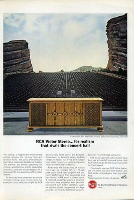 "1966 RCA Victor Color TV Television ""The Beleares"" PRINT AD"