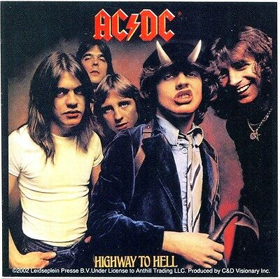 AC/DC highway to hell STICKER **FREE SHIPPING** window bumper -c s1959