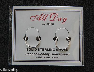 925 Solid Sterling Silver Sleepers - Non-allergic. Facet pattern. Made in Aust!