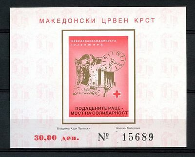 Macedonia 1996 Solidarity Week Imperf MNH M/S #A35197