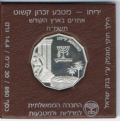 ISRAEL 1987 HOLY LAND SITES JERICHO PROOF COIN 14.4g SILVER ORIGINAL CASE