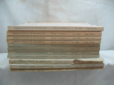 old magazines AMERICAN JOURNAL OF ARCHAEOLOGY ur CHOICE lot priced Individually