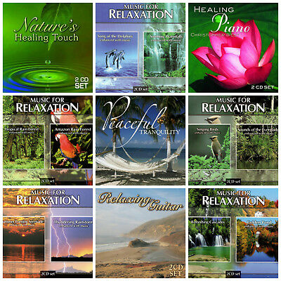 18 USED RELAXATION CDs LOT music&nature sounds,rain  forest,dolphins,piano,guitar
