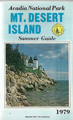 1979 Guide to Arcadia National Park and Mount Desert Island Maine