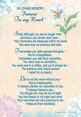 Xpress Yourself - Forever In My Heart Graveside Memorial Card & Holder