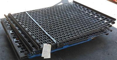 "Vibratory Shaker Plate Screen 59"" X 47.750"" X 1""  W/  2"" Square Staggered Holes"
