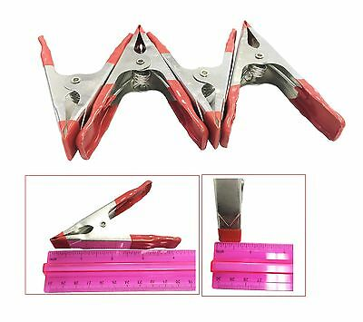 "4 Pcs - 4"" x 1.8"" ( Length 10cm x Jaw Opening 4.5cm ) METAL SPRING CLAMPS"
