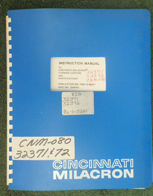 Cincinnati Milacron Manual Axis Spindle Drives Sabre Vmc 850sx Machining Center Other Metalworking Manuals Business & Industrial