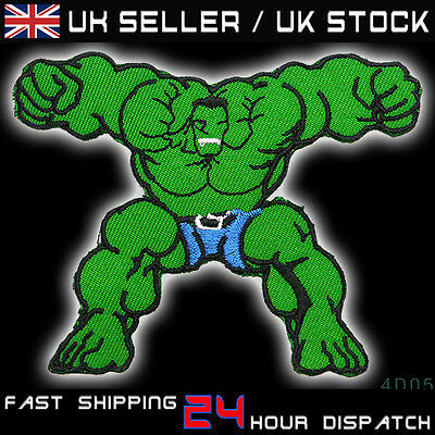INCREDIBLE HULK - Stylish Marvel Embroidered Iron-On Patch - HULK SMASH!!! #1D05
