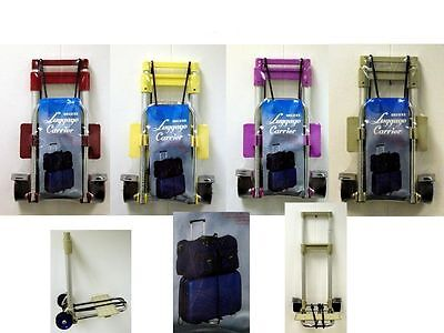 New Foldable Deluxe Luggage Trolley Carrier Suitcase Holder Carrier With Wheels
