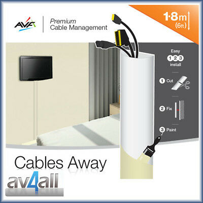 Roll Up Cable Cover Trunking Kit for Hiding Messy TV Wires and Leads