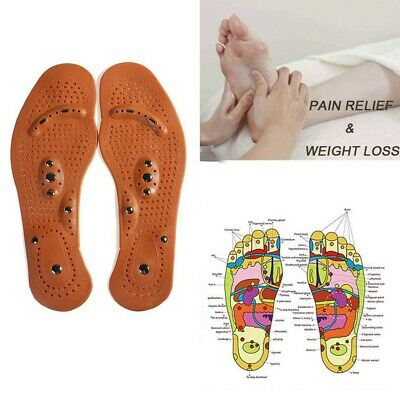 New Health Foot Magnetic Therapy Massage Insoles Shoe/Boots Pads for Men Women