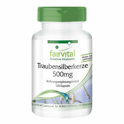 Traubensilberkerze - Black Cohosh 120 Kapseln, made in Germany, vegan, fairvital