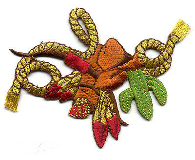 Western - Southwestern Designs On Western Rope Embroidered Iron On Patch
