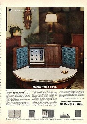 1962 G.E. General Electric Radio T 1000  PRINT AD