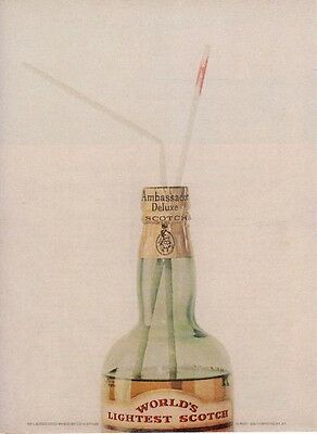 1962 Ambassador Scotch Vintage Bottle  PRINT AD