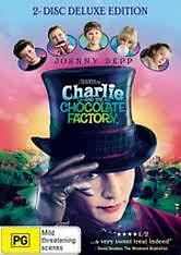 Ex Rental Charlie And & The Chocolate Factory Dvd Johnny Depp Family Guaranteed