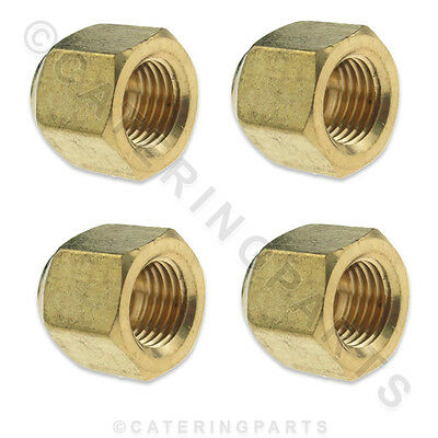 """4 Pack 1/4"""" Short Flare Nuts For Refrigeration Pipework Copper Tubing Drier Tube"""