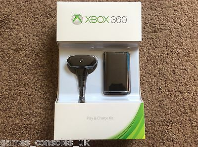 Official Black Elite Play And Charge Kit Microsoft Xbox 360 Brand New! +