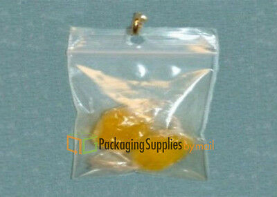 """500 pcs Clear Hang Hole Poly Plastic Reclosable Bags 2 Mil 2""""x3"""""""