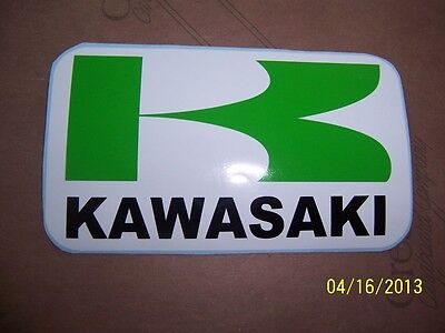 "1- Kawasaki  Sticker 4""X 7"" ( New GREEN, BLACK and WHITE Vinyl )......L@@K"