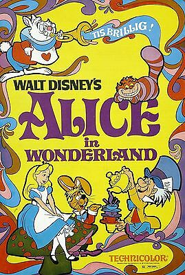 """ALICE IN WONDERLAND"".. Classic Childrens Animated Movie Poster A1A2A3A4Sizes"