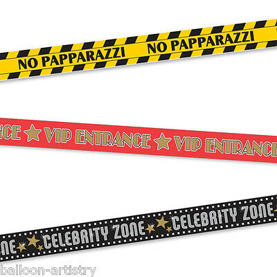 3 Hollywood Night VIP Celebrity Entrance 30ft Caution Party Tape Streamers