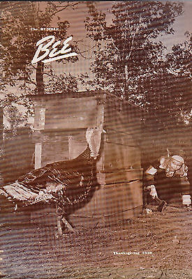 Thanksgiving 1949 The Humble Bee (Humble Oil Magazine) Cute Turkey Cover