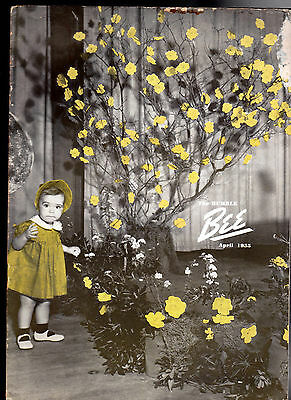 The Humble Bee Humble Oil Magazine Kathy Sue Williams & Flowers April 1955