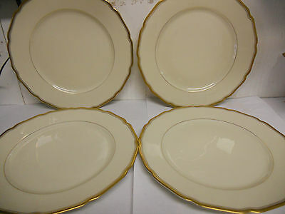 Thomas Ivory Bavaria  Dinner Plates Set of 4 Ivory /Gold Germany