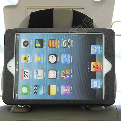 "Car Headrest Mount Holder For Apple iPad Mini 1 2 3 4 Leather Protect 7.9"" Case"