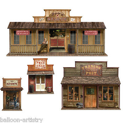 Wild West Party Scene Setter Party Add On TOWN PROPS