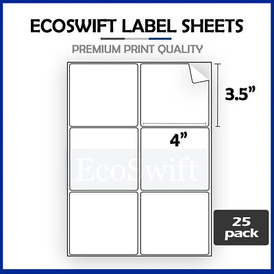 (150) 4 x 3 1/3 Laser/Ink Address Shipping Self-Adhesive Labels 6 per sheet