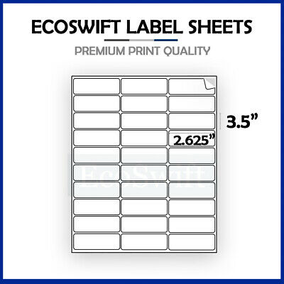(30) 2.625 x 1 Laser/Ink Address Shipping Adhesive Labels 30 per sheet 1 x 2 5/8