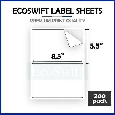 (400) 8.5 x 5.5 XL Premium Shipping Half-Sheet Self-Adhesive eBay PayPal Labels
