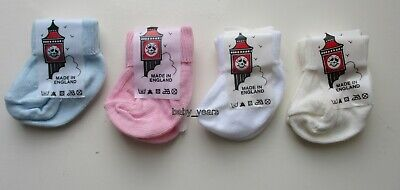 Premature Baby Clothing Ankle Socks White Cream Pink Blue Boys Girls Tiny Early