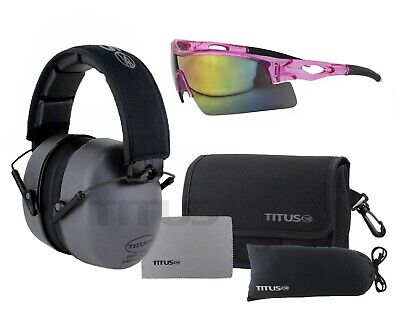TITUS Safety Glasses and Earmuff Combos Black Oynx B3 G20 Highest 34 NRR Z Rated