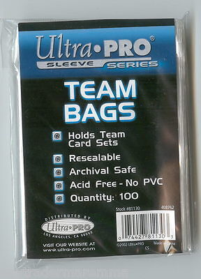 Ultra pro sealed packet of 100 team bags