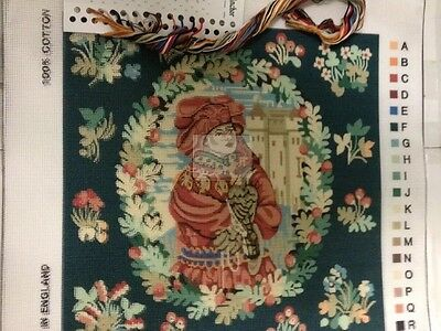 Lady in Red Tapestry Needlepoint with Bonus Sample Anchor material    *** NEW***