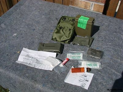US MILITARY First Aid Kit Complete with Accessories & Belt Clips (NEW)