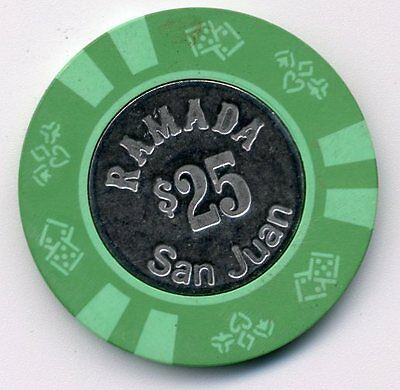 Ramada San Juan  $25 Coin  Inlay  Casino Chip #3