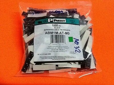 PANDUIT Adhesive Cable Tie Mounts ABM1M-AT-M0 12.7x12.7 mm (1 bag/1000pc)
