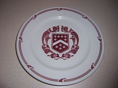 "VTG SYRACUSE CHINA 9"" RESTAURANT-WARE PLATE w/ COAT of ARMS"