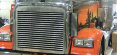 Freightliner Classic Side Hood Grill Deflector Stainless Steel 1993-2003