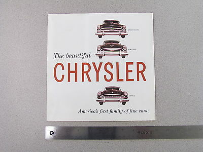 1954 Chrysler Sales Brochure; catalog, ad, Windsor, New Yorker, Imperial (S0016)