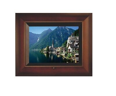 """Sungale 8"""" Digital Picture Frame (Brown) AD801"""