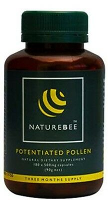 NatureBee Potentiated Bee Pollen 3 month supply (180 capsule bottle)