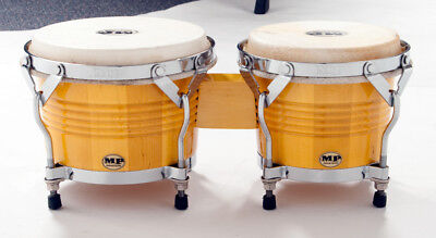 """MANO PERCUSSION Bongo Drums, Natural *NEW* Bongos, 7"""" & 8"""" heads, Pro style"""