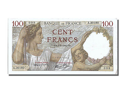 [#201106] France, 100 Francs, 100 F 1939-1942 ''Sully'', 1942, KM #94
